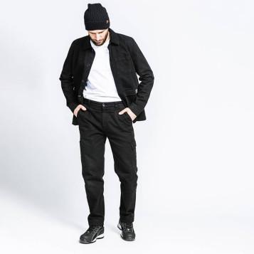 Pantalon de travail noir, 100% coton biologique. Pro et looké.